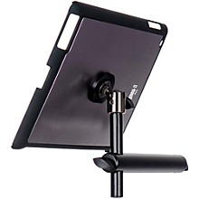 On-Stage Stands TCM9160 Tablet Mounting System with Snap-On Cover Level 1 Gun Metal