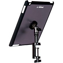 On-Stage Stands TCM9163 Quick Disconnect Table Edge Tablet Mounting System with Snap-On Cover Level 1 Gun Metal