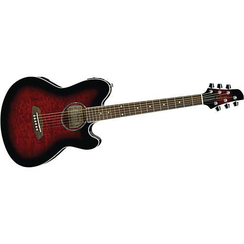 Ibanez TCY20E Talman Double Cutaway Acoustic-Electric Guitar Transparent Red Sunburst