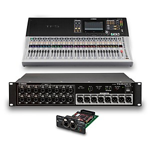 Yamaha TF5 32-Ch Digital Mixer with Tio1608-D Dante Stage Box and Expansion... by Yamaha