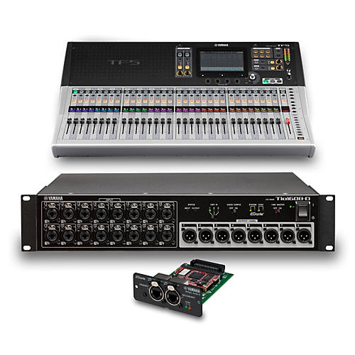 yamaha tf5 32 ch digital mixer with tio1608 d dante stage