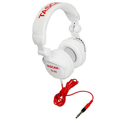 TASCAM TH-02 Recording Studio Headphones White