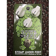 Stomp Under Foot THE AMHERST RAMS HEADS Effect Pedal