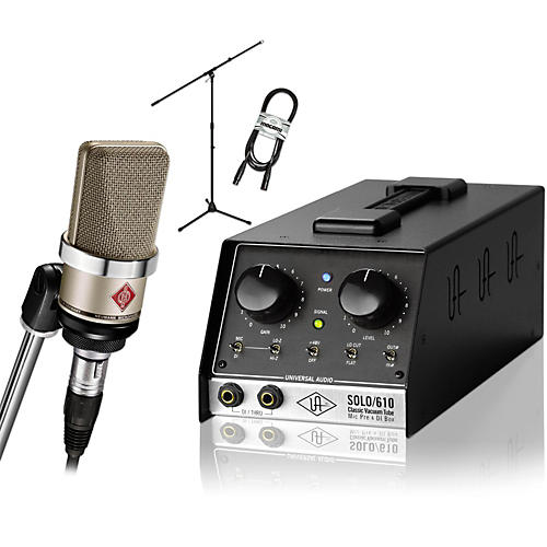 Neumann TLM 102 Nickel with Universal Audio SOLO/610 Package-thumbnail