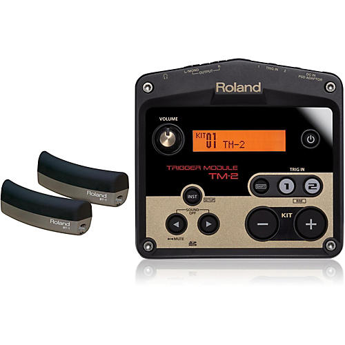 Roland TM-2 Drum Trigger module with 2 BT-1 Bar Trigger pads-thumbnail