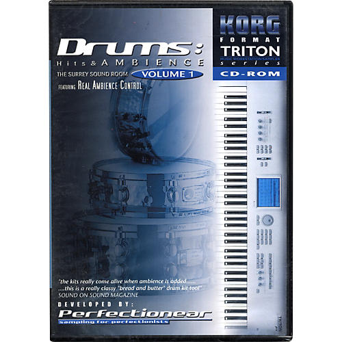 Korg TNCD003 TRITON Drum Hits and Ambience Sample CD ROM