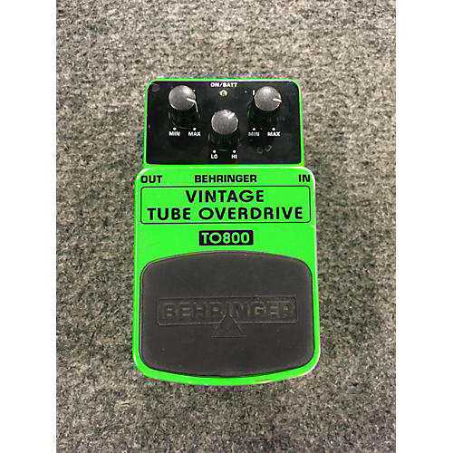 Behringer TO800 Vintage Tube Overdrive Effect Pedal-thumbnail