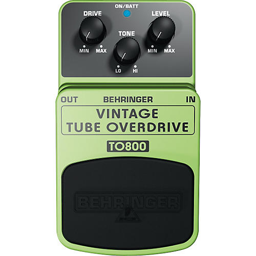 Behringer TO800 Vintage Tube Overdrive Guitar Effects Pedal-thumbnail