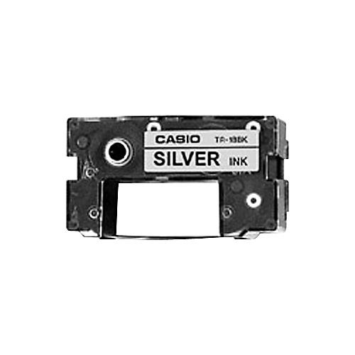 Casio TR-18SR Silver Ink Ribbon Cassette for CW-50 and CW-75 Disk Title Printers-thumbnail
