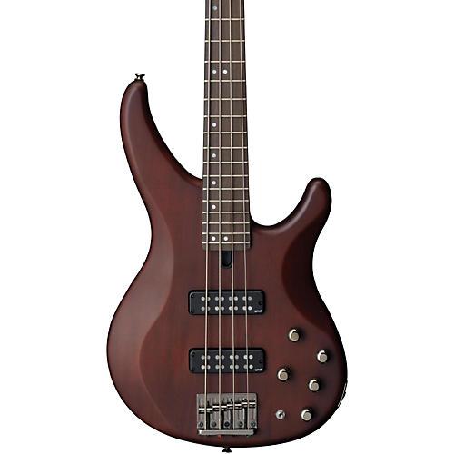 Yamaha TRBX504 4-String Premium Electric Bass Transparent Brown Rosewood Fretboard