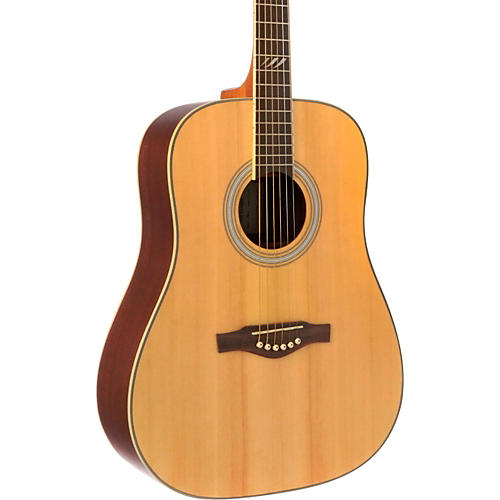 EKO TRI Series Dreadnought Acoustic Guitar Natural