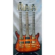 Galveston TRIPLE NECK QUILTED Solid Body Electric Guitar