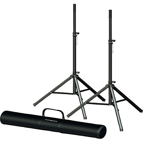 Ultimate Support TS-70B Speaker Stand Pair and Bag Bundle-thumbnail