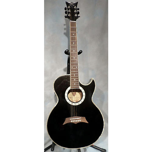 DBZ Guitars TSCAB Black Acoustic Electric Guitar