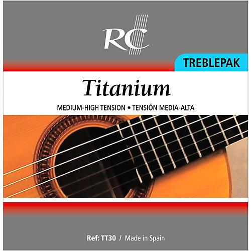 RC Strings TT30 Titanium Treblepak - 1st, 2nd and 3rd strings for Nylon String Guitar-thumbnail
