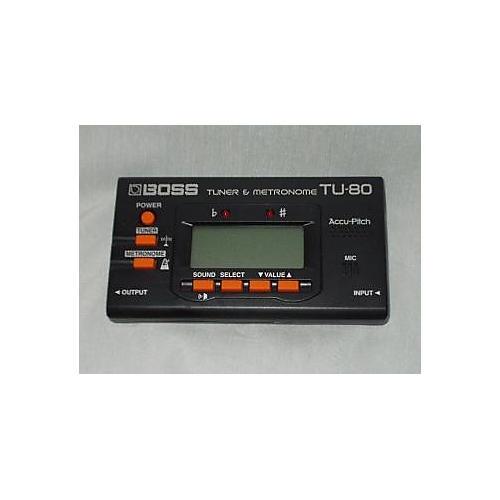 Boss TU80 Tuner And Metronome Tuner Metronome