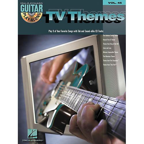 Hal Leonard TV Themes Guitar Play-Along Volume 45 Book with CD
