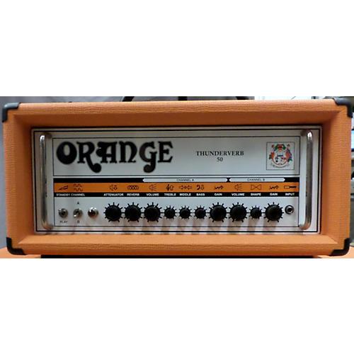used orange amplifiers tv50h thunderverb 50w tube guitar amp head guitar center. Black Bedroom Furniture Sets. Home Design Ideas