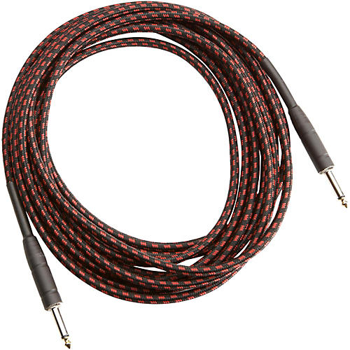 Musician's Gear TWEED 1/4 STRAIGHT-STRAIGHT INSTRUMENT CABLE Red 20 ft.