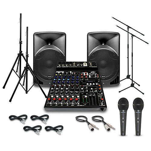 Alto TX15USB with Peavey PV10AT Mixer PA System