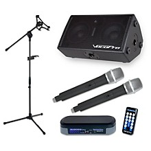 VocoPro TabletOke-Stage 200W Bluetooth Tablet Karaoke Package with Dual Wireless Mic