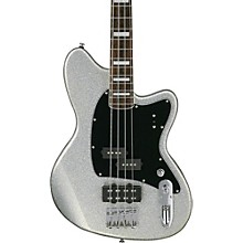 Talman Bass TMB310 4-String Electric Bass Guitar Silver Sparkle