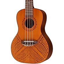 Luna Guitars Tapa Cedar Acoustic-Electric Ukulele