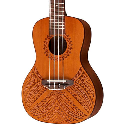 Luna Guitars Tapa Cedar Acoustic-Electric Ukulele-thumbnail
