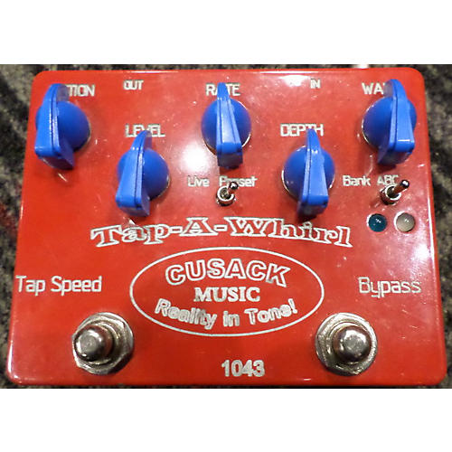 Cusack Tapawhirl Tap Tremolo Effect Pedal-thumbnail