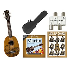 Luna Guitars Tattoo Pineapple Soprano Ukulele Bundle
