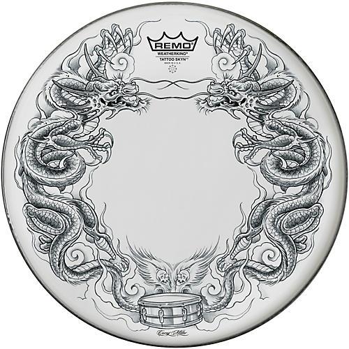 Remo Tattoo Skyn Drumhead 14 in. Dragon Skyn Graphic-thumbnail