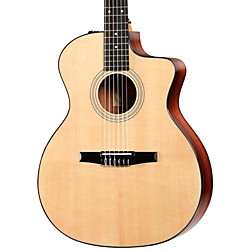 Taylor 214ce-N Rosewood/Spruce Nylon String Grand Auditorium Acoustic-Electric Guitar