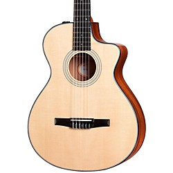 Taylor 312ce-N Sapele/Spruce Nylon String Grand Concert Acoustic-Electric Guitar