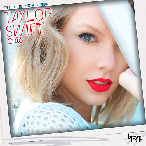 Browntrout Publishing Taylor Swift 2016 Mini Calendar 7 x 7 in.-thumbnail