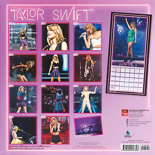 Browntrout Publishing Taylor Swift 2017 Calendar-thumbnail