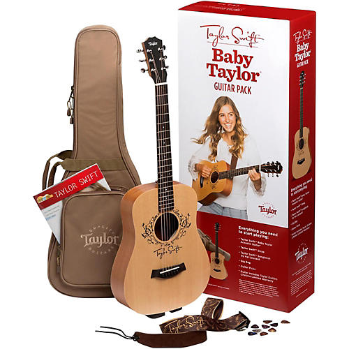 taylor taylor swift signature baby taylor acoustic guitar pack natural guitar center. Black Bedroom Furniture Sets. Home Design Ideas