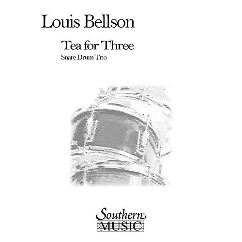 Hal Leonard Tea For Three (3) (Percussion Music/Snare Drum Ensemble) Southern Music Series Composed by Bellson, Louie