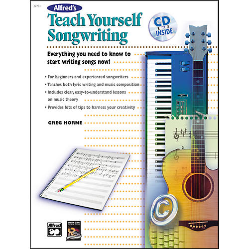 Alfred Teach Yourself Songwriting (Book/CD)-thumbnail