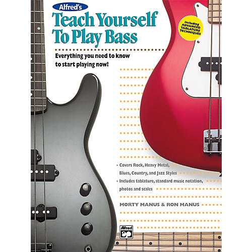 Alfred Teach Yourself To Play Bass (Book/CD)-thumbnail
