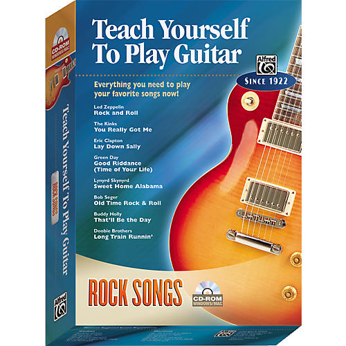 Alfred Teach Yourself To Play Guitar: Rock Songs (CD-ROM)-thumbnail