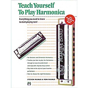 Alfred Teach Yourself To Play Harmonica Book by Alfred