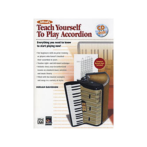 Alfred Teach Yourself to Play Accordion Book/CD