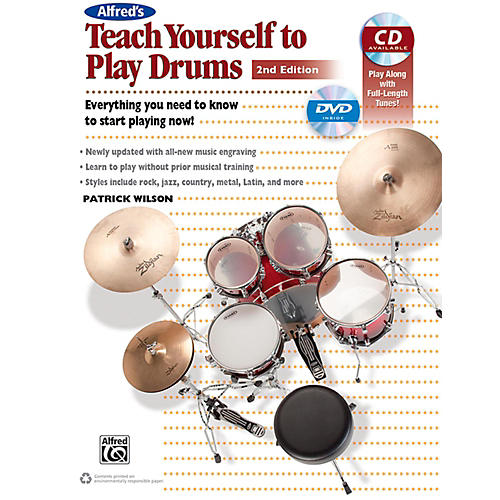 Alfred Teach Yourself to Play Drums (2nd Edition) Book & CD-thumbnail