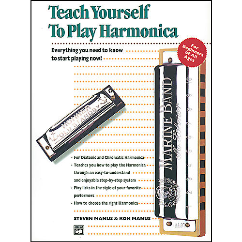 Alfred Teach Yourself to Play Harmonica Book-thumbnail