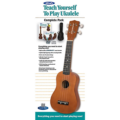 Alfred Teach Yourself to Play Ukulele Complete Starter Pack Natural