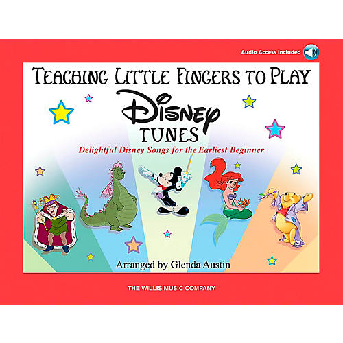 Willis Music Teaching Little Fingers To Play Disney Tunes Book/CD