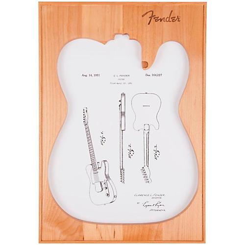 Fender Telecaster Framed Print White