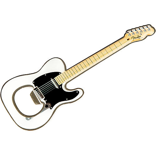 Fender Telecaster Magnet Bottle Opener White