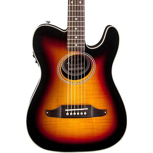 Fender Telecoustic Premier Flame Maple Acoustic-Electric Guitar 3-Color Sunburst
