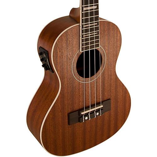 Lanikai Tenor All-Mahogany Acoustic-Electric Ukulele with USB-thumbnail